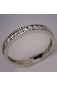 18ct White Gold Diamond Channel Set Wedder