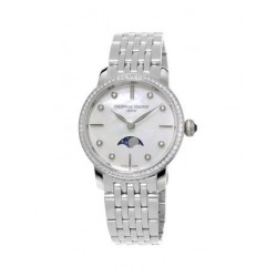 Frederique Constant Slimline Ladies Moonphase Diamond FC-206MPWD1SD6B