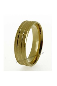 9K Yellow Gold 6mm Flat Gents Wedder 094081