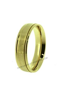 9K Yellow Gold 6mm Flat Contour Gents Wedder