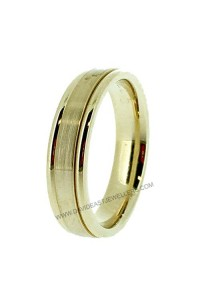 9K Yellow Gold 4.5mm Gents Wedding Band