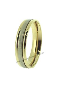 9K Yellow and White Gold Gents Wedder 094085
