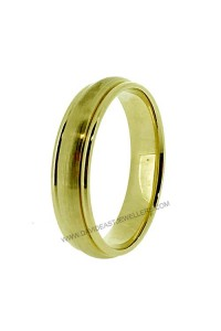 9K Yellow Gold Half Round Gents Wedding Band 094089
