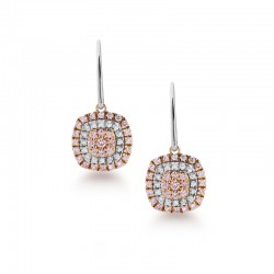 Blush Pink Argyle Diamond Drop Earrings