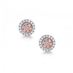 Blush Pink Argyle Diamond Earrings