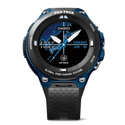 Casio Pro Trek Outdoor GPS Android Smart App Watch WSDF20A Blue