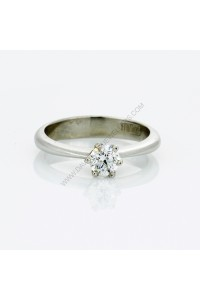 Platinum 0.30ct F Colour Diamond Solitaire Engagment Ring