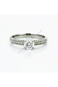 Canadian Fire Pave Diamond Engagment Ring
