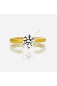 1ct F/VS2 Diamond Solitaire Engagement  Ring