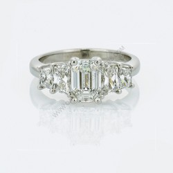 Trapezoid 2.67ct Diamond Ring
