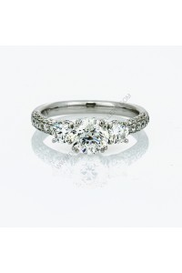 Stone Pave 1.95ct Diamond Engagment Ring