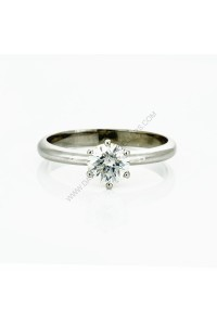 0.84ct Round Brilliant Cut Diamond Solitaire Engagment Ring