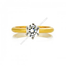 18k Yellow Gold Brilliant Cut 0.80ct Solitaire Diamond Engagment Ring