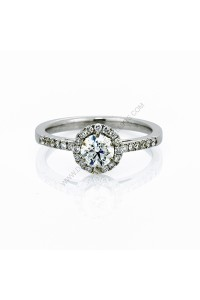 Halo Pave Diamond Engagment Ring