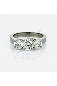 18k White Gold 3 Stone Trellis 1.81ct Diamond Engagment Ring
