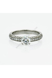 Micro Pave 0.95ct Diamond Ring