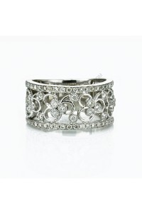 Diamond Flower Dress Ring