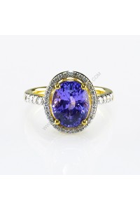 5.60ct Purple Sapphire and Diamond Ring