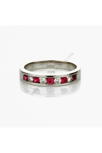 Ruby Diamond Eternity Band