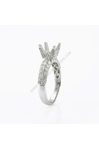 Micro Pave Diamond Engagement Ring Mount