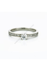 4 Claw and Pave Diamond Engagment Ring