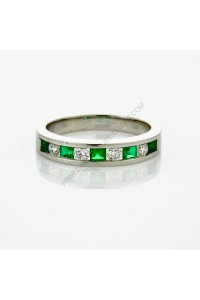 Emerald Diamond Eternity Band