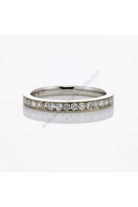 Pave Milgrain Edge Diamond Wedding Ring