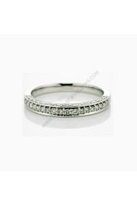 Micro Pave Diamond Wedding Ring