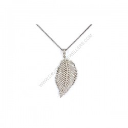 1.02ct Diamond Leaf Necklace