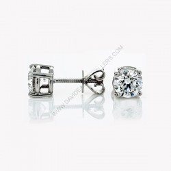 2ct Diamond Stud Earrings