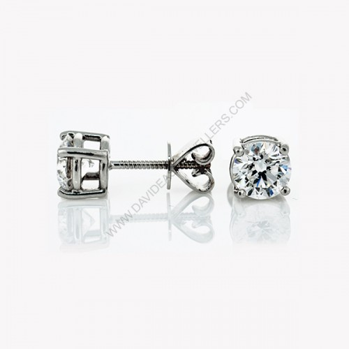 white in earrings cut tw gold stud ct diamond princess