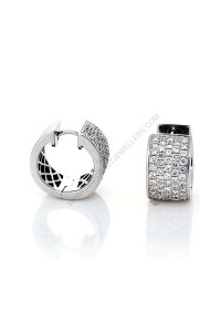 Micro Pave Diamond Huggie Earrings