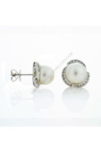South Sea Pearl Diamond Stud Earrings