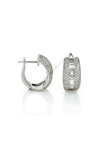Baguette Diamond Earrings