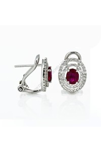 Ruby Diamond Earrings