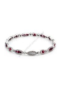 2.04ct Ruby and Diamond Bracelet