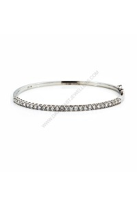1.30ct(tw) Oval Hinged Diamond Bangle