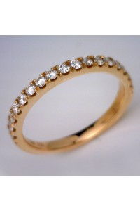 18kt Rose Gold Claw Set Diamond Wedding Ring