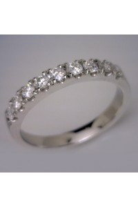 18kt White Gold Diamond Claw Set Wedding Ring