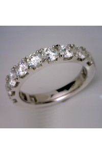 18kt White Gold Claw Set Diamond Wedding Ring = 1.82cts